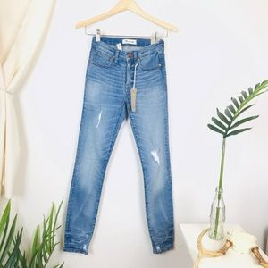 "Madewell 9"" High Rise Skinny Distressed Jeans 23"